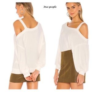 Nwt free people flaunt it cold shoulder top